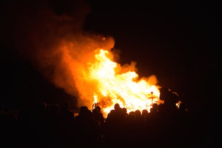 Driffield bonfire
