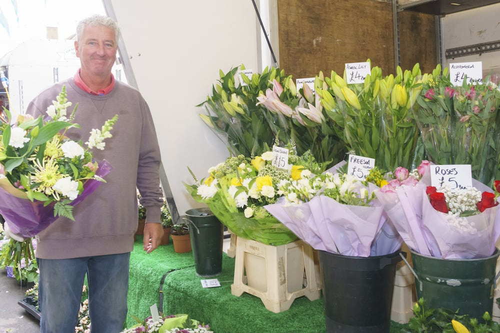 Driffield market flower stall