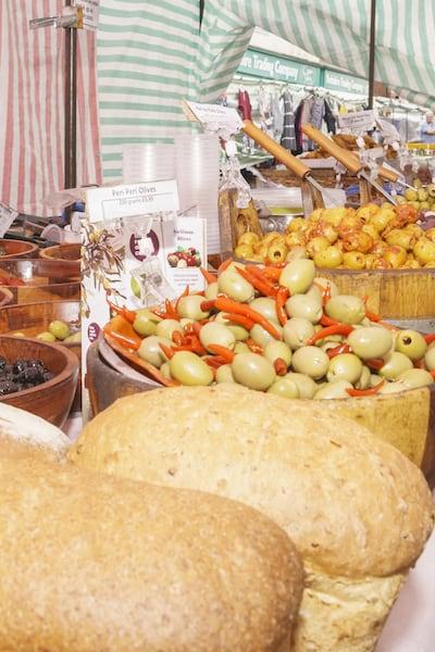 Driffield market food stall